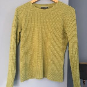 Pistachio green cable knit sweater